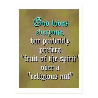 Dios ama cada uno postal