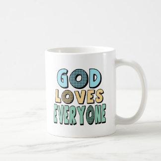 Dios ama cada uno taza clásica