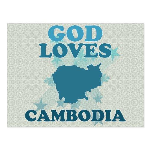 Dios ama Camboya Postales