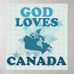 Dios ama Canadá Impresiones