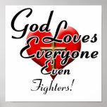 ¡Dios ama combatientes! Impresiones