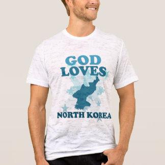 Dios ama Corea del Norte Playera
