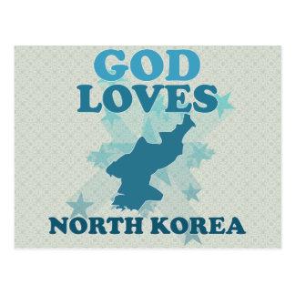 Dios ama Corea del Norte Postales