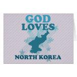 Dios ama Corea del Norte Tarjeta