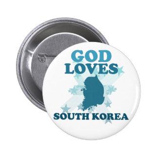 Dios ama Corea del Sur Pin