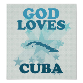 Dios ama Cuba Posters