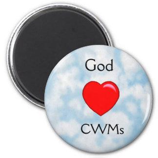 Dios ama el imán cristiano de las mamáes (CWMs) de