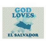 Dios ama El Salvador Postal