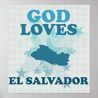 Dios ama El Salvador Póster
