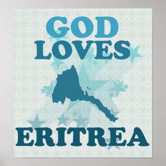 Dios ama Eritrea Póster