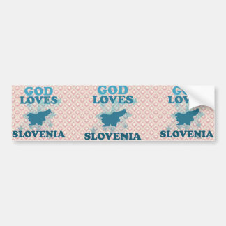Dios ama Eslovenia Pegatina Para Auto