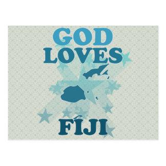 Dios ama Fiji Tarjetas Postales