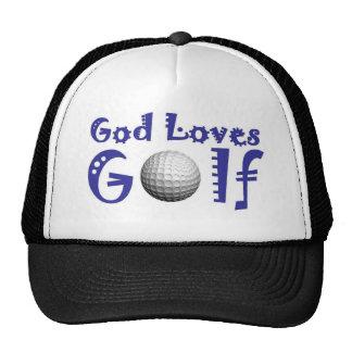 Dios ama golf gorro