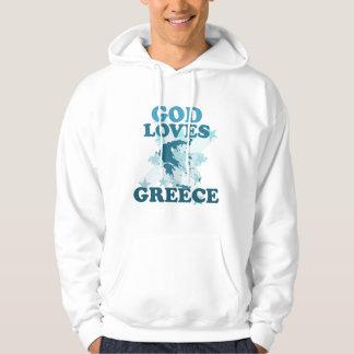 Dios ama Grecia Sudadera