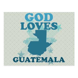 Dios ama Guatemala Tarjeta Postal