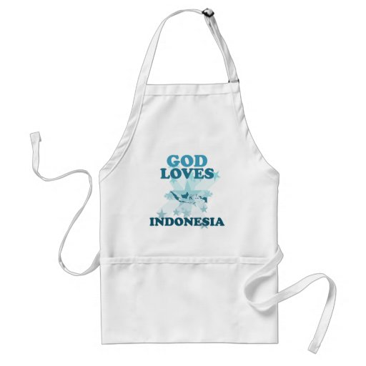Dios ama Indonesia Delantales