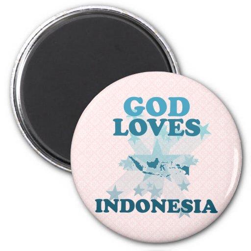 Dios ama Indonesia Imanes Para Frigoríficos
