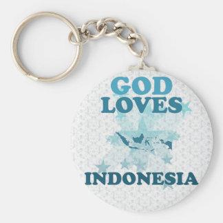 Dios ama Indonesia Llaveros Personalizados
