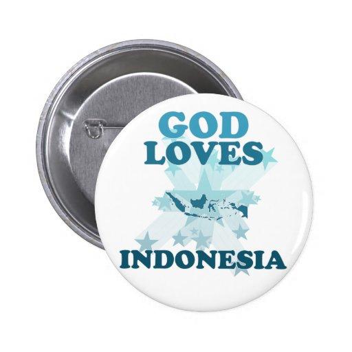 Dios ama Indonesia Pins