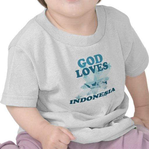 Dios ama Indonesia Camisetas