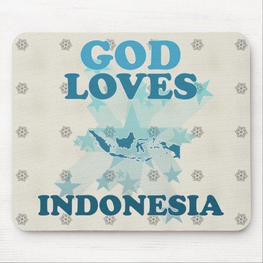 Dios ama Indonesia Alfombrilla De Ratón