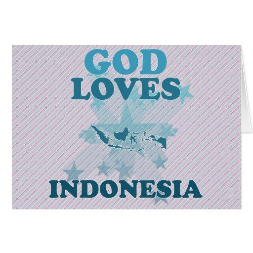 Dios ama Indonesia Tarjetas