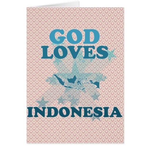 Dios ama Indonesia Tarjeta