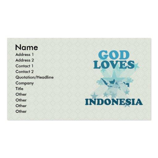 Dios ama Indonesia Tarjetas De Visita