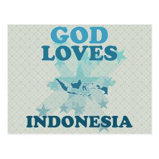 Dios ama Indonesia Postales