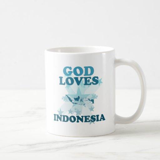 Dios ama Indonesia Taza De Café