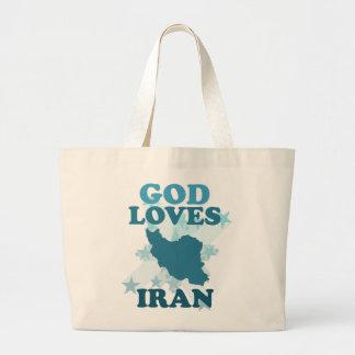Dios ama Irán Bolsa Tela Grande