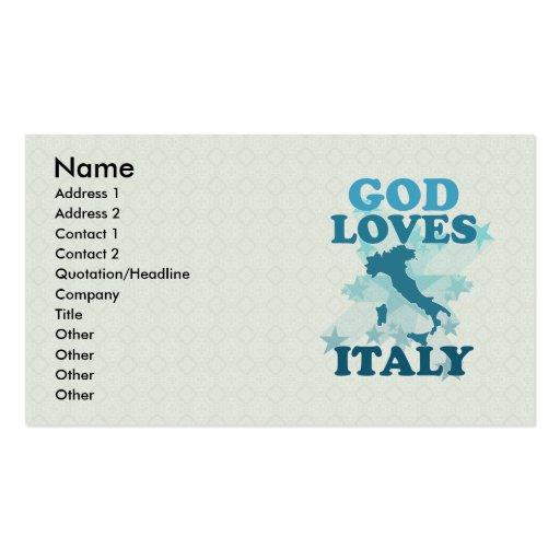 Dios ama Italia Tarjetas De Visita