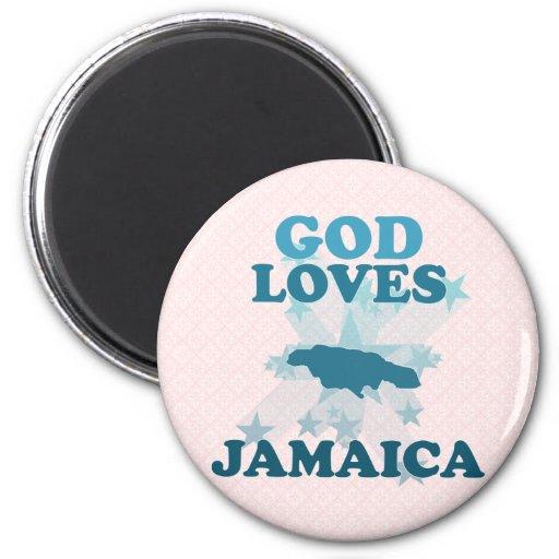Dios ama Jamaica Imanes Para Frigoríficos