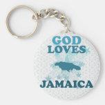 Dios ama Jamaica Llaveros Personalizados