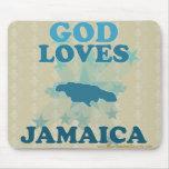 Dios ama Jamaica Tapete De Ratones