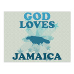 Dios ama Jamaica Tarjeta Postal