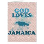 Dios ama Jamaica Tarjetas