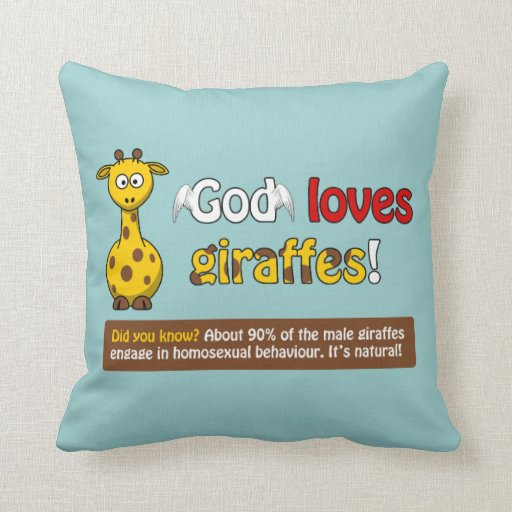 Dios ama jirafas almohadas