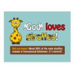 Dios ama jirafas postal