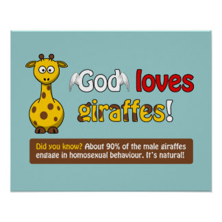 Dios ama jirafas póster