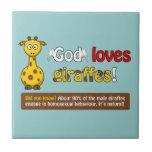 Dios ama jirafas teja  ceramica