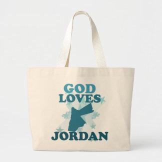 Dios ama Jordania Bolsas De Mano