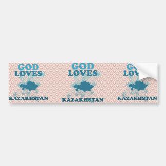 Dios ama Kazajistán Pegatina De Parachoque
