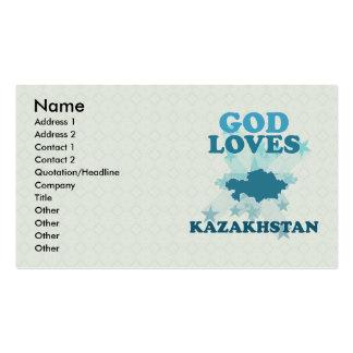 Dios ama Kazajistán Plantilla De Tarjeta De Visita
