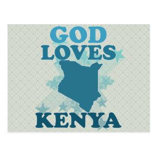 Dios ama Kenia Postales