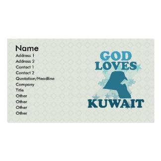 Dios ama Kuwait Tarjetas De Visita