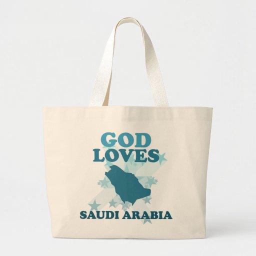Dios ama la Arabia Saudita Bolsa Tela Grande