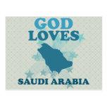 Dios ama la Arabia Saudita Postales