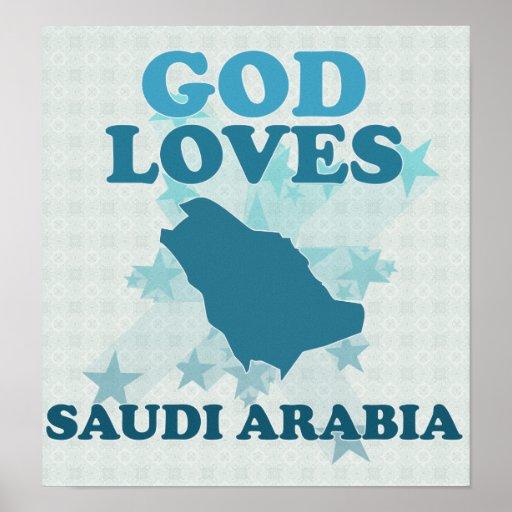 Dios ama la Arabia Saudita Poster