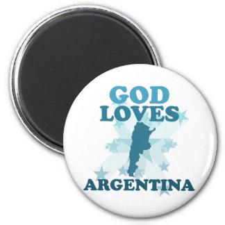 Dios ama la Argentina Imán Para Frigorifico
